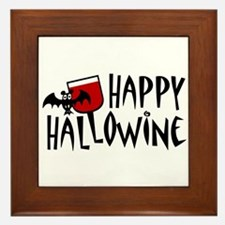 Happy Hallowine Framed Tile