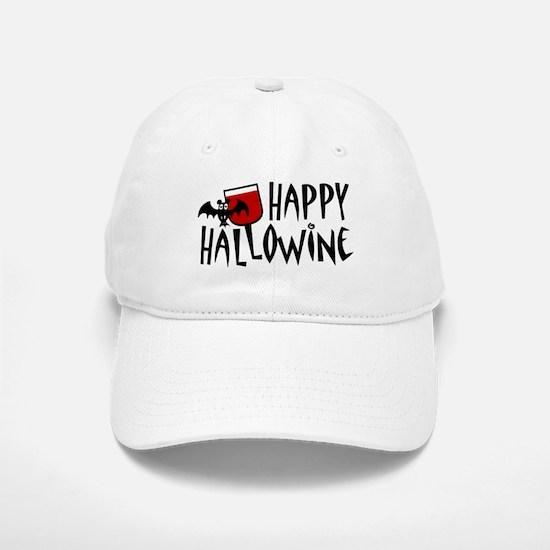 Happy Hallowine Baseball Baseball Cap