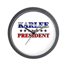 KARLEE for president Wall Clock