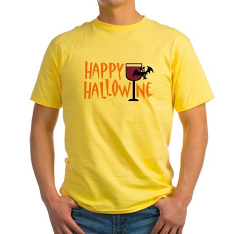Happy Hallowine Yellow T-Shirt