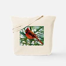 Cardinal Finch Oil Tote Bag