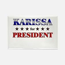 KARISSA for president Rectangle Magnet