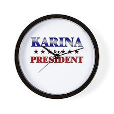 KARINA for president Wall Clock