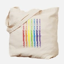 Flutes 7 Rainbow Tote Bag