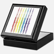 Flutes 7 Rainbow Keepsake Box