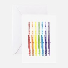 Flutes 7 Rainbow Greeting Cards (Pk of 10)