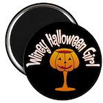 Winey Halloween Girl Magnet