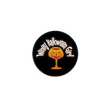 Winey Halloween Girl Mini Button