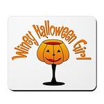 Winey Halloween Girl Mousepad