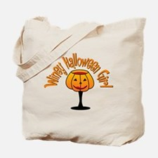 Winey Halloween Girl Tote Bag