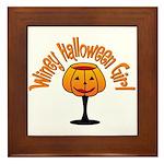 Winey Halloween Girl Framed Tile