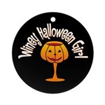 Winey Halloween Girl Ornament (Round)