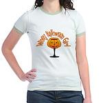 Winey Halloween Girl Jr. Ringer T-Shirt