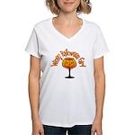 Winey Halloween Girl Women's V-Neck T-Shirt
