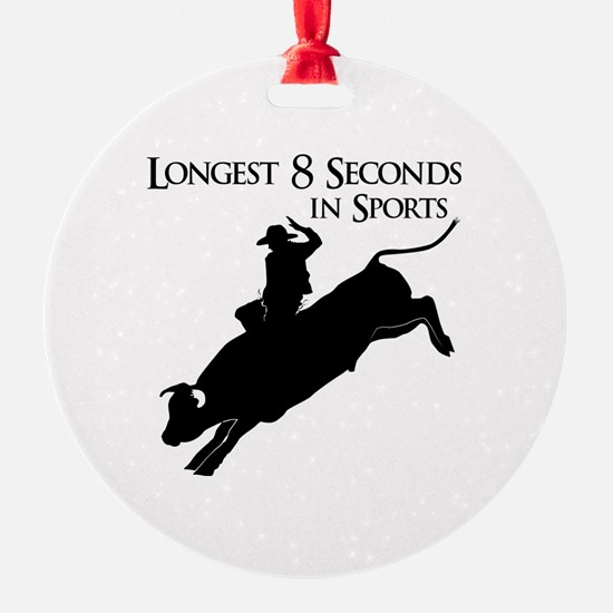 Longest 8 Seconds Ornament