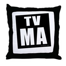 Mature Audiences (TV:MA) Throw Pillow