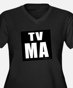 Mature Audiences (TV:MA) Women's Plus Size V-Neck