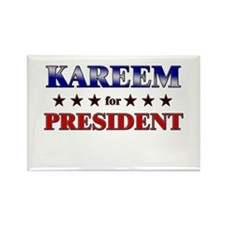 KAREEM for president Rectangle Magnet