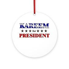 KAREEM for president Ornament (Round)