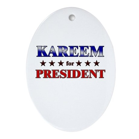 KAREEM for president Oval Ornament