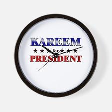 KAREEM for president Wall Clock