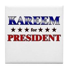KAREEM for president Tile Coaster