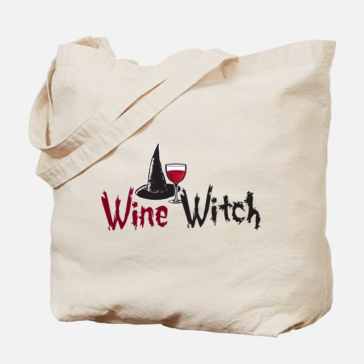 Wine Witch Tote Bag