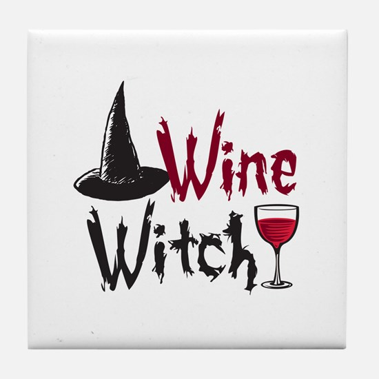 Wine Witch Tile Coaster