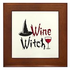 Wine Witch Framed Tile