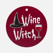 Wine Witch Ornament (Round)