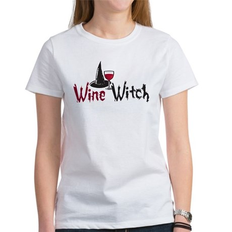 CafePress - Wine Witch Women's T-Shirt