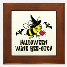Halloween Wine Bee-Otch Framed Tile