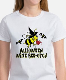 Halloween Wine Bee-Otch Women's T-Shirt