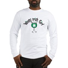 Winey Irish Girl Long Sleeve T-Shirt