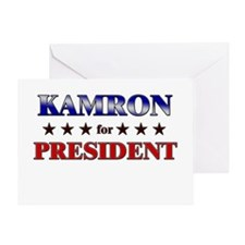 KAMRON for president Greeting Card