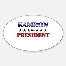 KAMRON for president Oval Decal