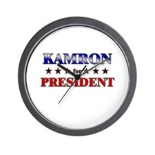 KAMRON for president Wall Clock