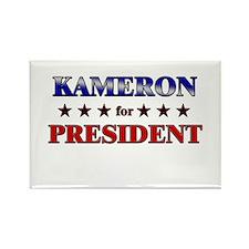 KAMERON for president Rectangle Magnet