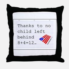 no child left behind Throw Pillow