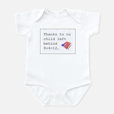 no child left behind Infant Bodysuit