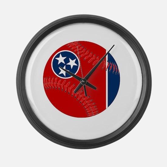 Ball state cardinals Large Wall Clock