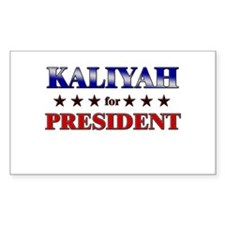 KALIYAH for president Rectangle Decal