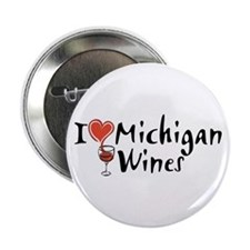 """I Love Michigan Wines 2.25"""" Button (10 pack)"""
