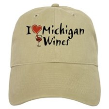 I Love Michigan Wines Baseball Cap