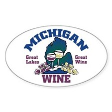 Michigan Wine Oval Decal