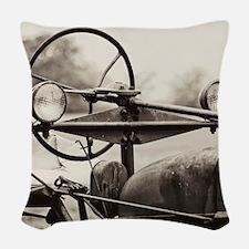 Farm Tractor Woven Throw Pillow