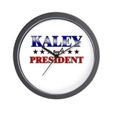 KALEY for president Wall Clock