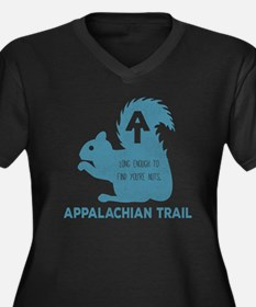Unique Appalachian trail Women's Plus Size V-Neck Dark T-Shirt