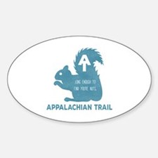 Unique Appalachian trail Sticker (Oval)