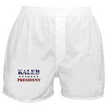 KALEB for president Boxer Shorts